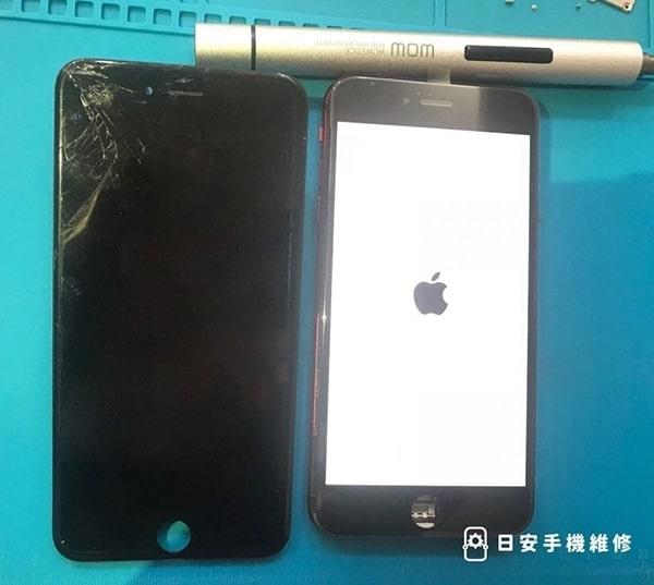 iPhone 6s plus 螢幕破裂示意圖