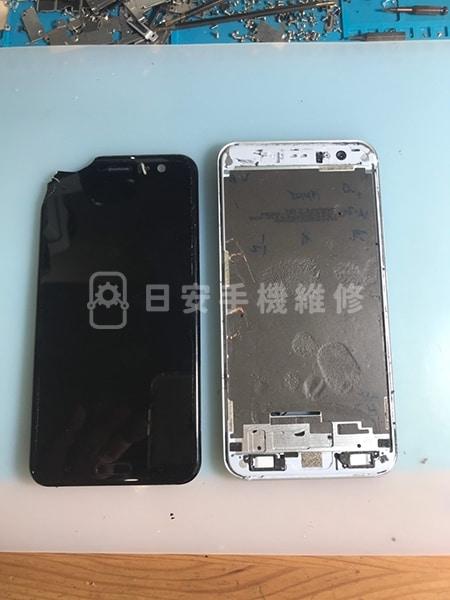 HTC U11 螢幕維修 拆除老舊螢幕