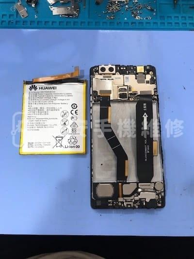 華為 P9 Plus 更換電池 - 移除電池