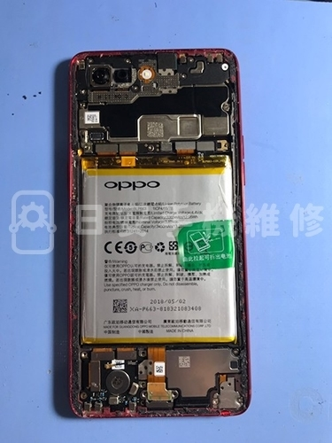 OPPO R15 安裝電池