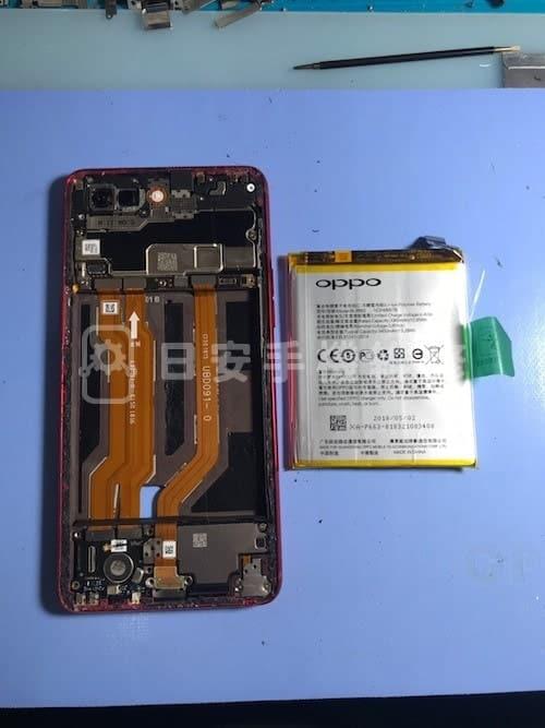 OPPO R15 拆除電池