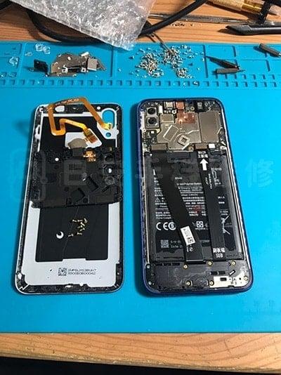 小米 紅米7 螢幕維修拆開背蓋