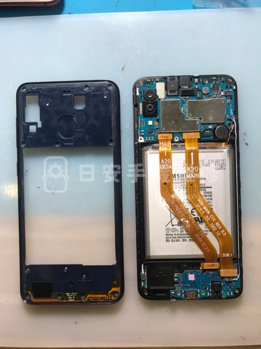Samsung A20 拆除螢幕保護蓋