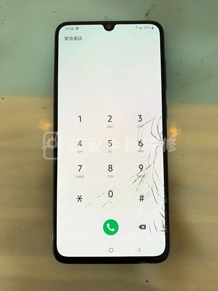 Samsung 三星 A70 維修前 螢幕玻璃破裂