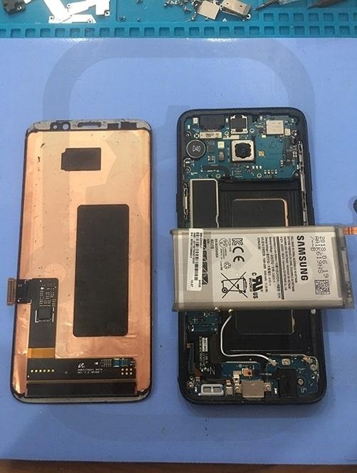 Samsung S8 拆除壞損螢幕