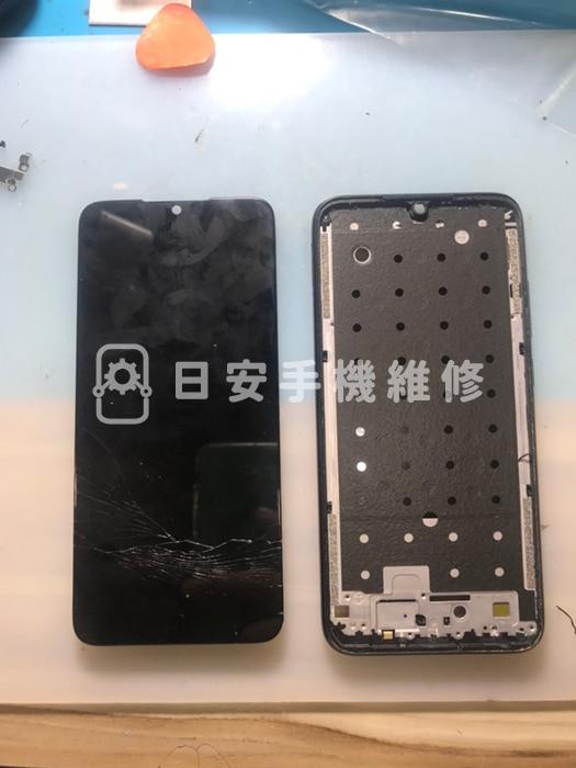 紅米 Note7 拆除破損螢幕